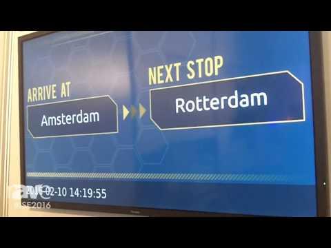 ISE 2016: RapidSignage Overviews Passenger Information System