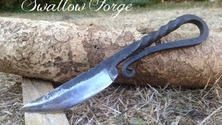 How to Forge a Medieval style bushcraft knife. Blacksmith at Swallow Forge.