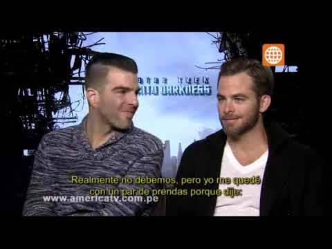 Cinescape: Star Trek: Entrevista Chris Pine y Zachary Quinto - 11/05/2013