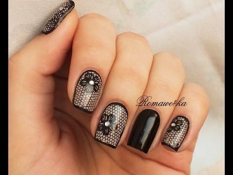 Дизайн ногтей лаками и фольгой