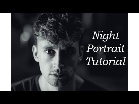 Night Portrait Photography Tutorial without Flash or Led