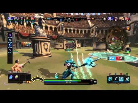 SMITE PS4 ARENA GAMEPLAY - STREAKING HARD WITH POSEIDON!