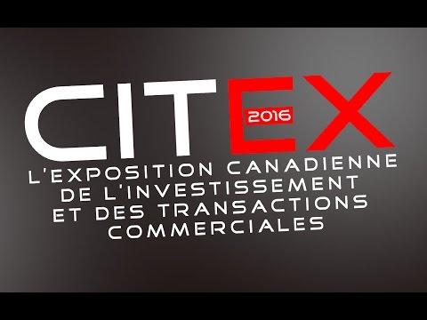 Publicité du CITEX 2016 sur la télé de Radio Canada