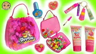 Shopkins Bubble Bath, Nail Polish, Lipgloss Makeup & Handbag Surprise at Makeup Spot Playset
