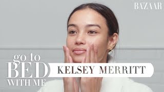 Victoria's Secret Model Kelsey Merritt's Nighttime Skincare Routine | Go To Bed With Me