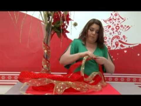 Como hacer florero navideño