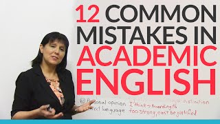 12 Common Errors in Academic English ? and how to fix them!