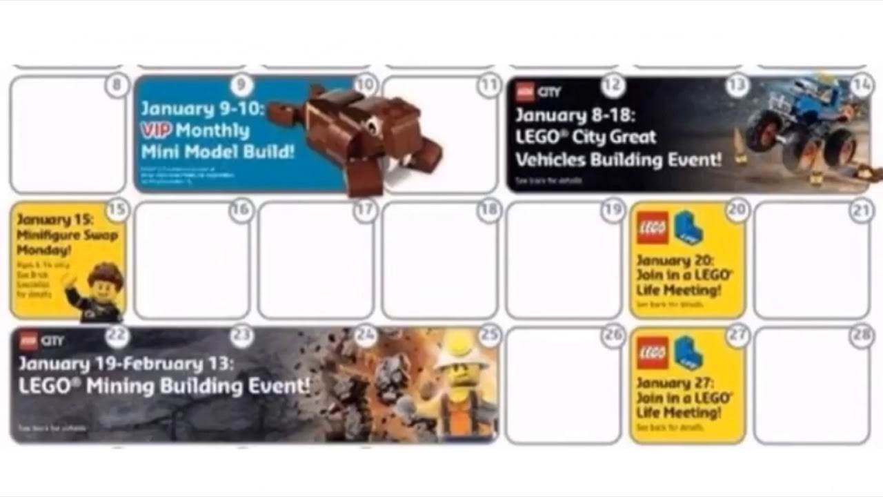 Lego store 2018 calendar revealed! - YouTube