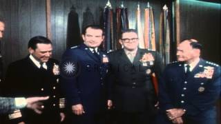 United States Joint Chiefs of Staff pose for a group photograph and General Brown...HD Stock Footage