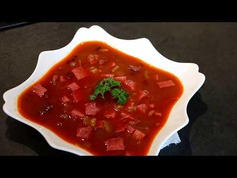 Очень вкусный фасолевый суп.