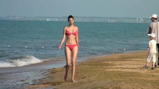Девушка пляж море Анапа