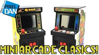 Arcade Classics Mini Cabinets Q*Bert & Centipede Handheld Games from Basic Fun Video Review