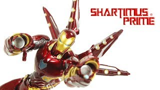 SH Figuarts Mark 50 Iron Man Nano Set 2 Avengers Endgame Import Action Figure Toy Review