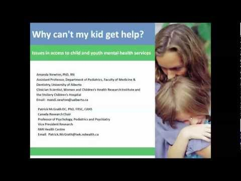 Why can't my kids get help? Issues in access to child and youth mental health
