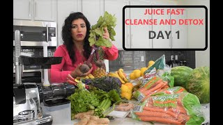 How to do a Juice Fast For Weight Loss -DAY 1- Juicing Fasting to Cleanse The Liver & Detox The Body