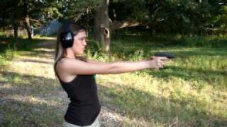 Caylie and the Ruger LCP.