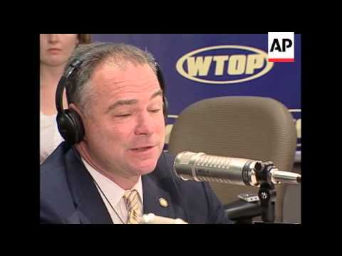 In an interview with WTOP Radio in Washington, Virginia Gov. Tim Kaine sidestepped questions about w