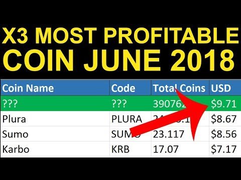 Antminer X3 Most Profitable Coin To Mine June 2018