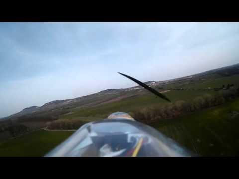 RC větroň Mikin Zálet po opravě směrovky