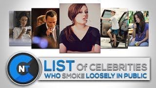 Top Celebrities Who Smoke In Real Life | Celebrities Caught Smoking In Public You Wouldn't Believe