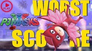 PJ Masks Games | Moonlight Heroes | WORST Score Challenge!! - Owlette | Game for Kids