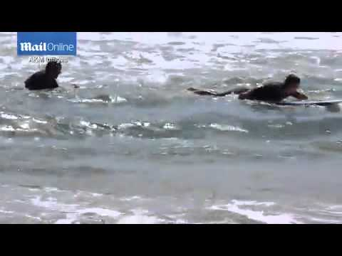 PICTURE EXCLUSIVE: Josh Brolin saves a distressed surfer from drowning in Hawaii by helping him to