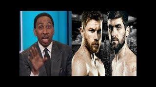 Stephen A. Smith reacts to Canelo Alvarez vs. Rocky Fielding