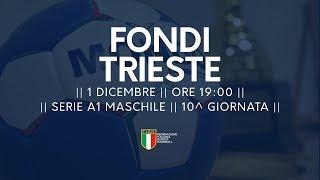 Serie A1M [10^]: Fondi - Trieste 26-22