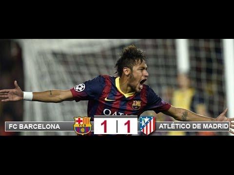 FC Barcelona 1 - Atletico de Madrid 1 UEFA Champions League Carrusel Deportivo Cadena Ser
