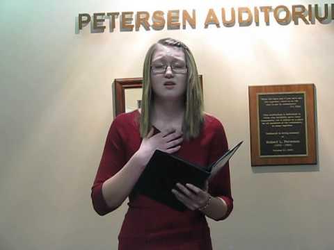 Kailey Komnick - Freshman - Poetry - Sweet Agony - Kewanee High School Speech Team