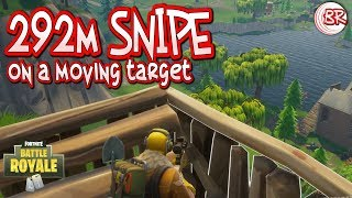 292m Sniper Kill on a Moving Target - Epic Moments - Fortnite:Battle Royale