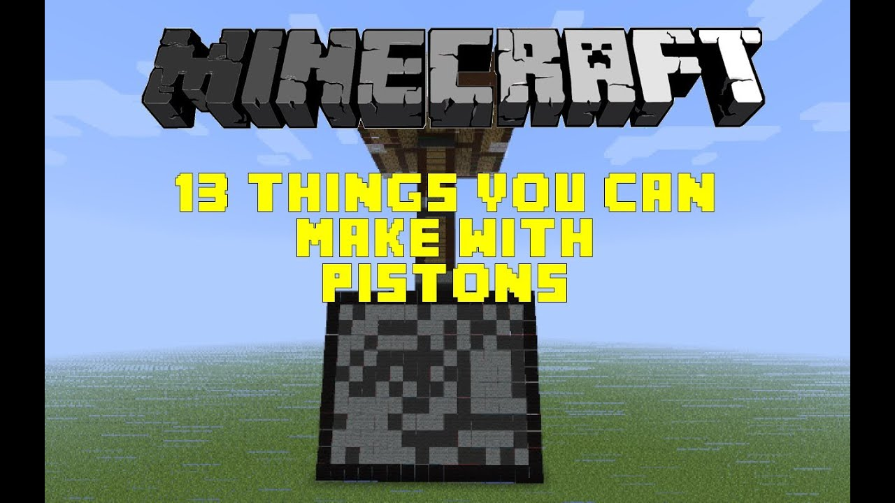 Minecraft 13 things you can make with pistons hd youtube