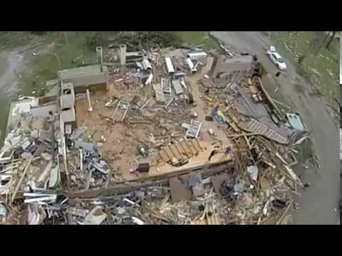 Tupelo tornado with flimed with drone