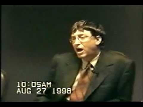 United States v. Microsoft: Deposition by Bill Gates, part 1.