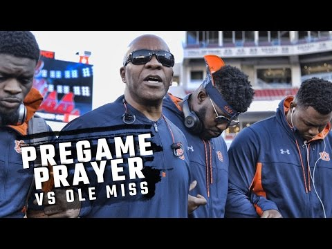 Hear Auburn's prayer before their game with Ole Miss