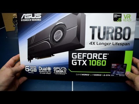 ASUS GeForce GTX 1060 6GB TURBO - UNBOXING, Max Temp & Clocks