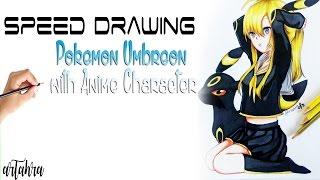 Speed Drawing Character of Pokemon Umbreon ( Anime Character )