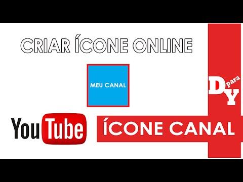 COMO CRIAR ÍCONE DO CANAL COM TEXTO ONLINE / FÁCIL INICIANTES - Dicas Para Youtubers thumbnail