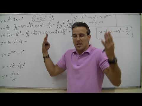 Derivada de una funcion 2ºBACHI unicoos Regla de la Cadena matematicas