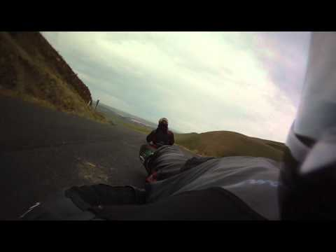 Deanna's street luge ride down Maryhill at the 2012 Noob Freeride *raw*