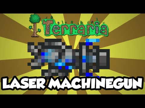 Terraria 1.3 Items - The 'Laser Machinegun' - New Terraria 1.3 Weapons / Items