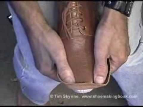Tim Skyrme, shoemaking, lasting by hand, part 3