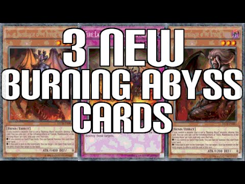Yugioh 3 New Burning Abyss Cards Revealed - Broken Trap Card? video
