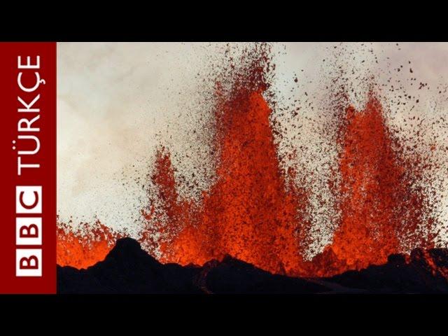Bardarbunga Yanardağı'nda lavlarla burun buruna - BBC TÜRKÇE