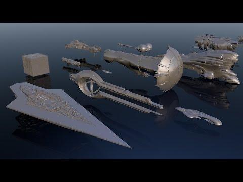 宇宙船のサイズ比較映像。haloの船やデススターのサイズも。