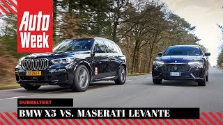 BMW X5 vs Maserati Levante - AutoWeek Dubbeltest - English subtitles