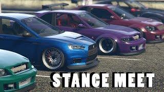 Stance GTA 5 Online Car Meet