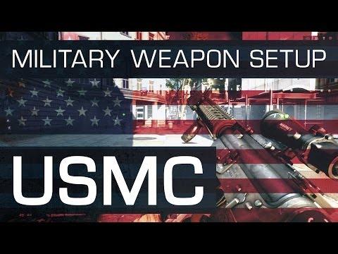 Battlefield 4 (BF4) M16A4 Military Weapon Setup : U.S. Marine Corps