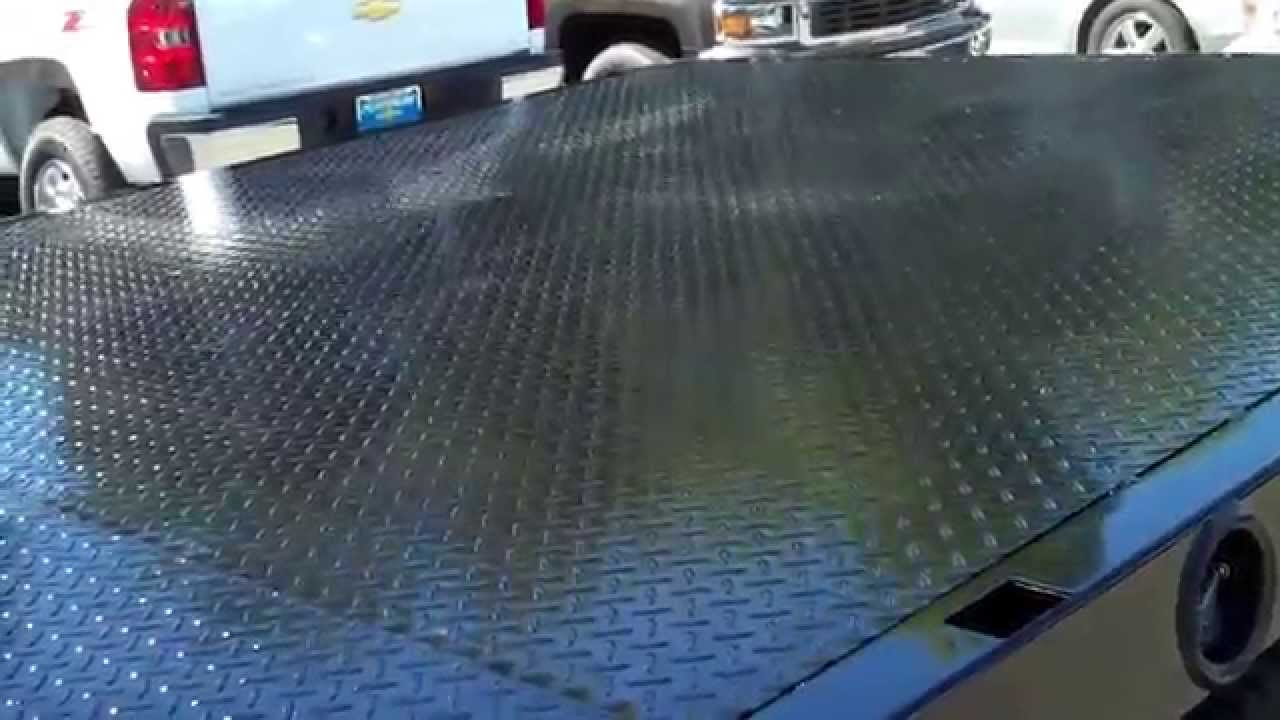 Flatbed Aluminum Flooring : Hd flatbed with diamond plate steel floor overlay and