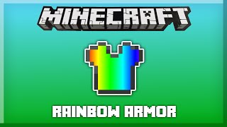 RAINBOW ARMOR in only one command! [Minecraft 1.10]